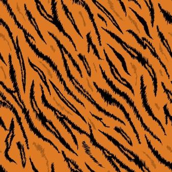 호랑이 질감 원활한 동물 패턴입니다. 스트라이프 패브릭 배경 호랑이 피부 모피. 벽지, 장식용 패션 추상 디자인 인쇄. 벡터 일러스트 레이 션