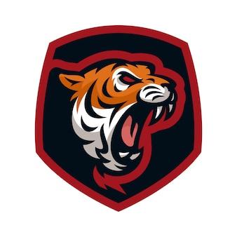 タイガーベクトルのアイコンのロゴのマスコットのイラスト