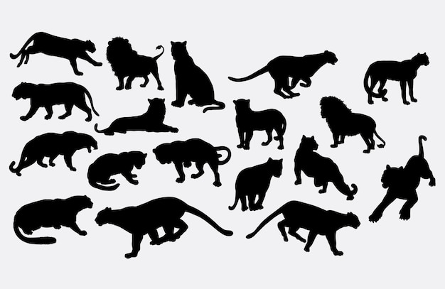 Tiger wild animal silhouette