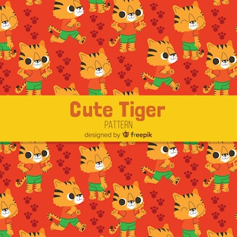 Tiger with clothes pattern