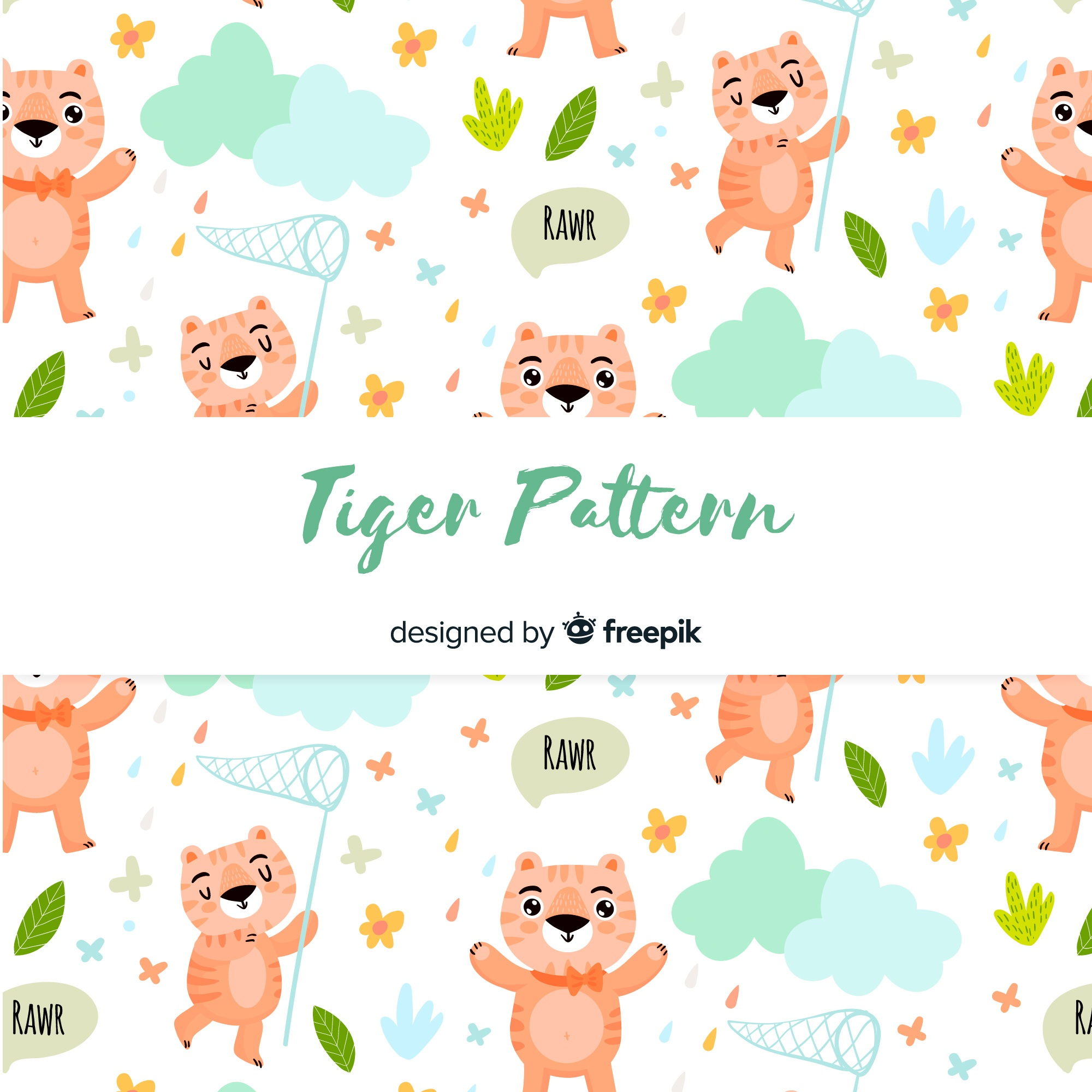 Tiger with net pattern