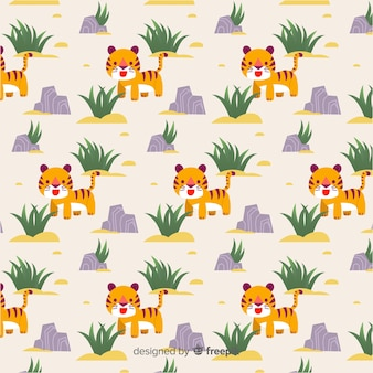 Tiger with rock pattern