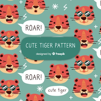 Tiger with sunglasses pattern