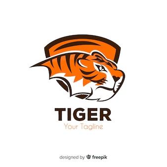 Шаблон логотипа tiger