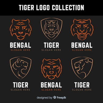 Коллекция логотипов tiger