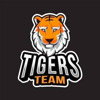 Tigers team logo template