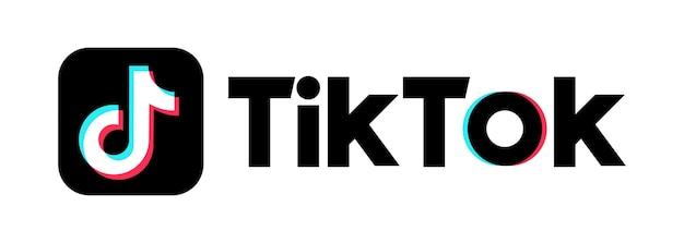 Фон тик ток. значок tik tok. значок социальных сетей. реалистичный набор приложений tik tok. логотип. вектор. запорожье, украина - 10 мая 2021 г.