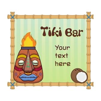 Tiki bar background template