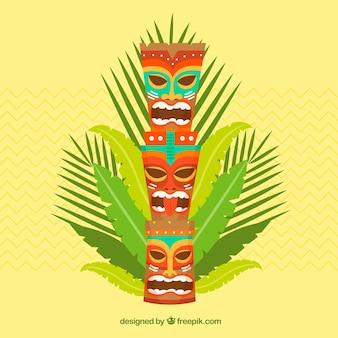 Tiki column background