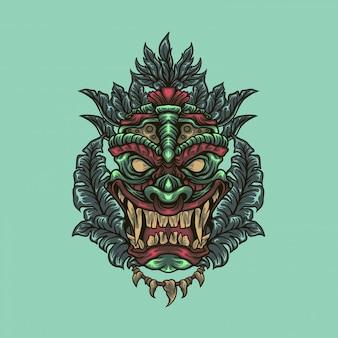 Tiki head illustration