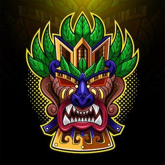 ティキマスクeスポーツマスコットロゴ