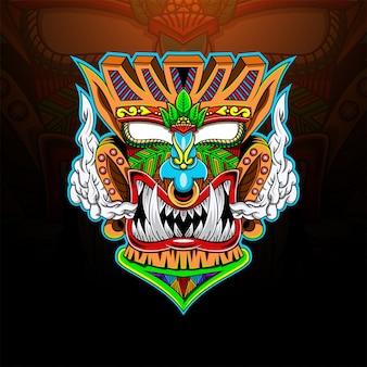 Tiki mask esport mascot