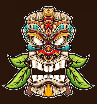 Tiki mask vector
