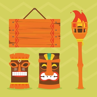 Tiki masks and related icons