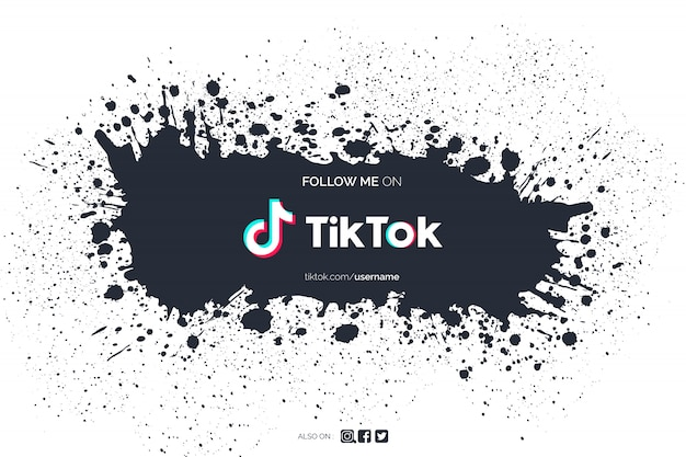 Tiktok background with paint splash