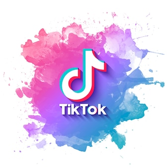 Tiktok banner with watercolor splatter