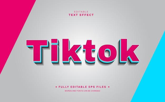 Tiktok editable text effect
