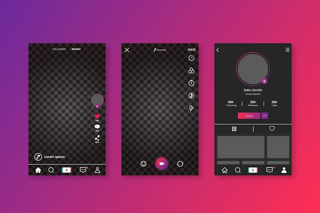 Tiktok interface concept