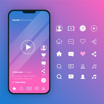 Tiktok interface concept