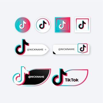 Tiktok logo collection