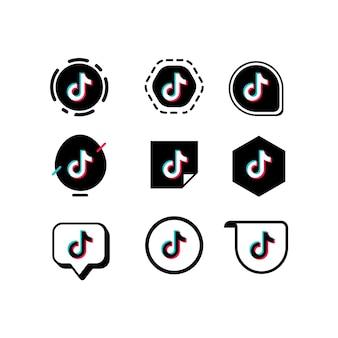 Collezione logo tiktok