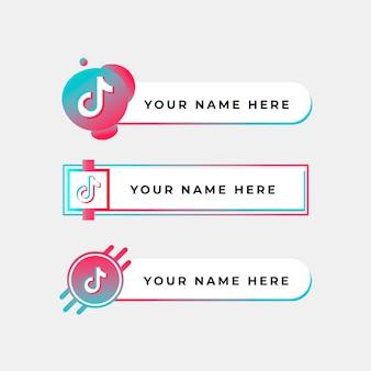 Коллекция логотипов tiktok