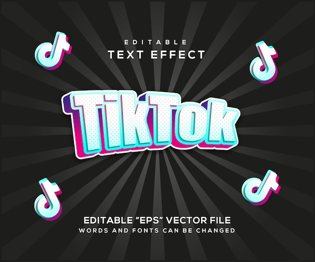 Tiktok text effect style