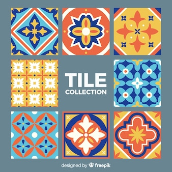 Tile collection of eight