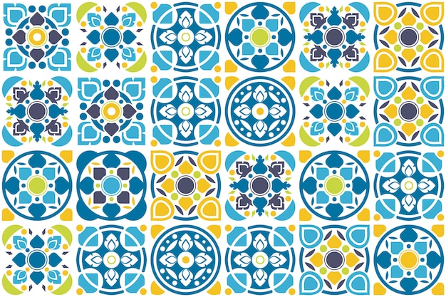 Tile design. floor seamless pattern