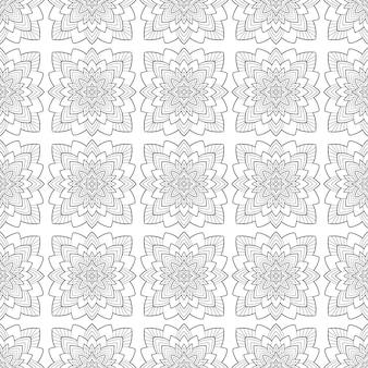 Tile ornamental seamless pattern
