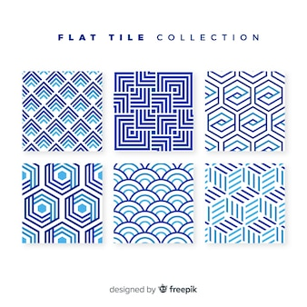 Tile pack in flat style