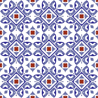 Tile pattern, ceramic tiled with colorful patchwork turkish style