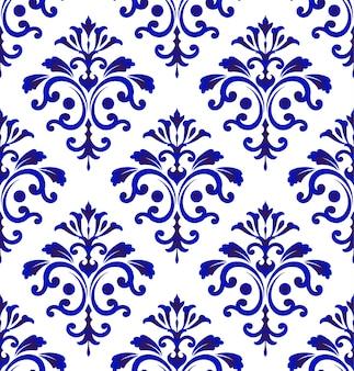Tile pattern damask style