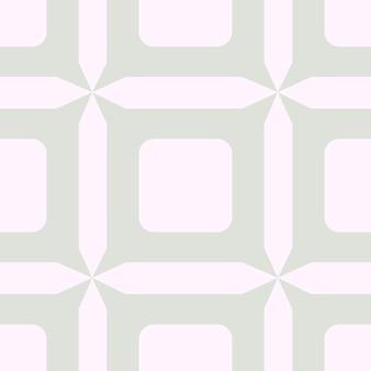 ポルトガルのシームレスなパターンを並べて表示します。パステルブルーの幾何学的な背景。伝統的なアズレージョの繰り返し飾り。ベクトルモノクロの正方形のパターン。生地、パッケージングの抽象的なヴィンテージプリント。