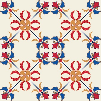 Tile seamless pattern design. with colourful motif