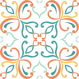 Плитка бесшовные модели дизайна с красочными мотивами фона