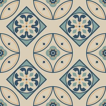 Tile seamless pattern design.