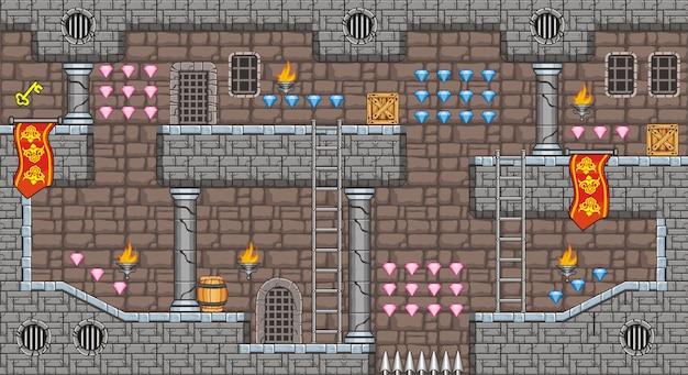 Tile set platform and background for creating mobile game