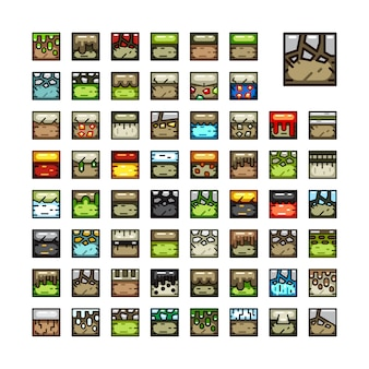Tile sets for video games