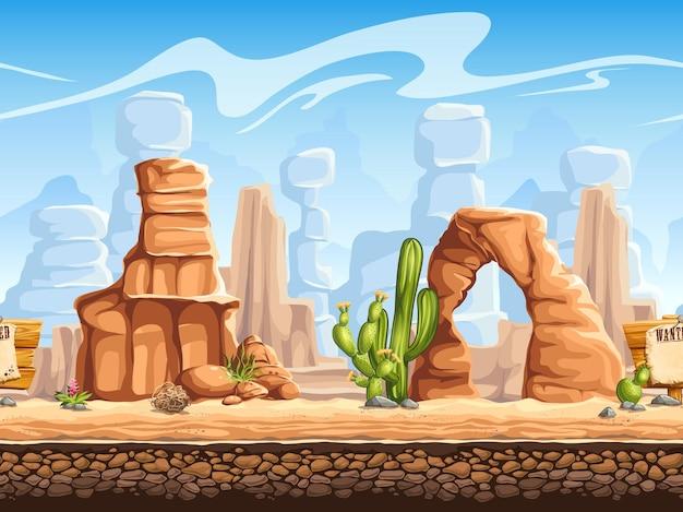 Tileable   horizontal background wild west