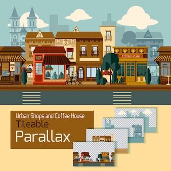 Магазины tileable parallax