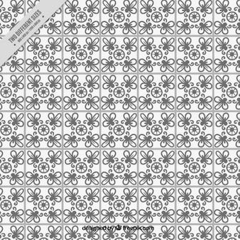 Плиточный фон в черный и лозы