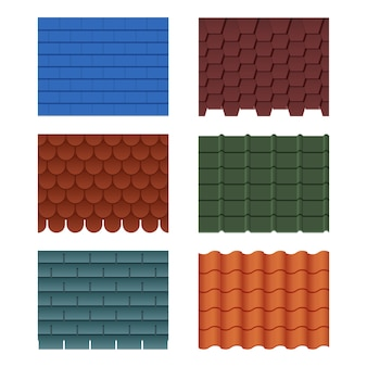 Tiles for roofed house
