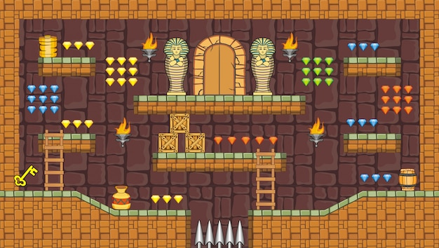 Tileset platform and background for creating mobile game