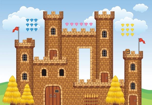 Tileset platform and background for creating mobile games