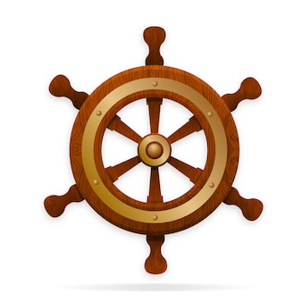 The tiller is the steering wheel of the ship.