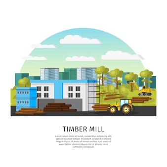 Timber factory template