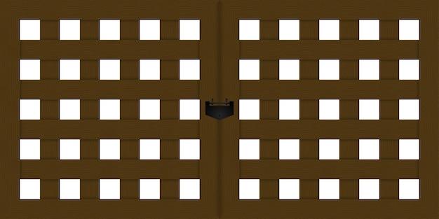 Деревянная дверь из древесины