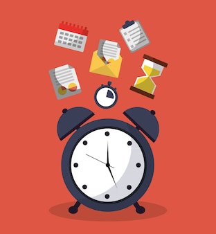 Время будильника для службы сообщений и календаря