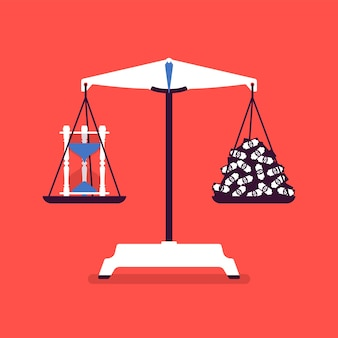 Инструмент весов времени и денег хороший баланс
